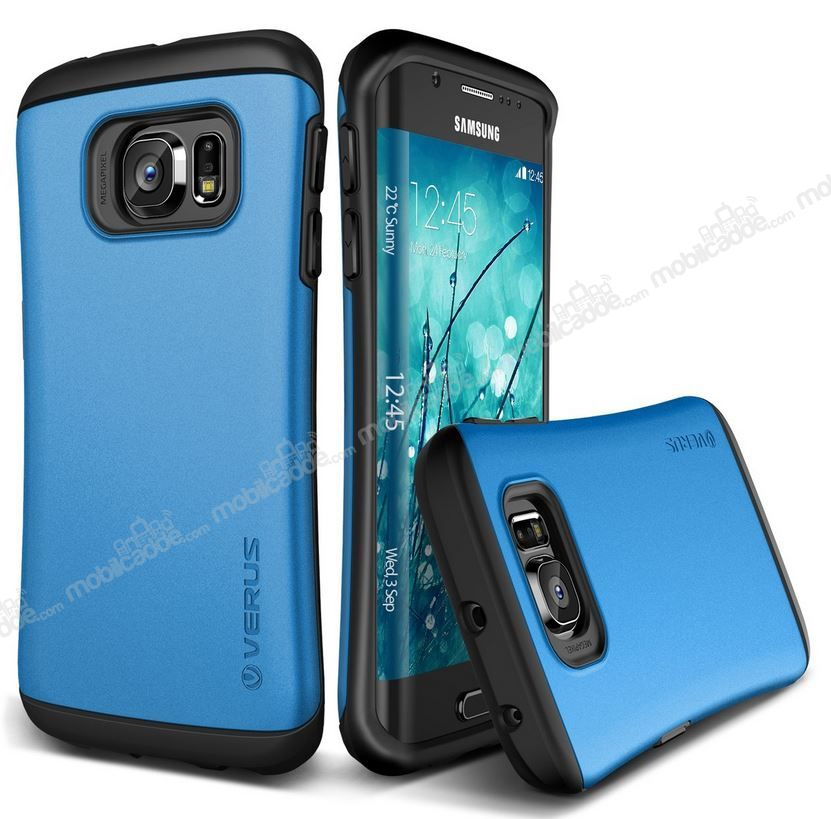 Verus Thor Series Hard Drop Samsung Galaxy S6 Edge Electric Blue Kılıf