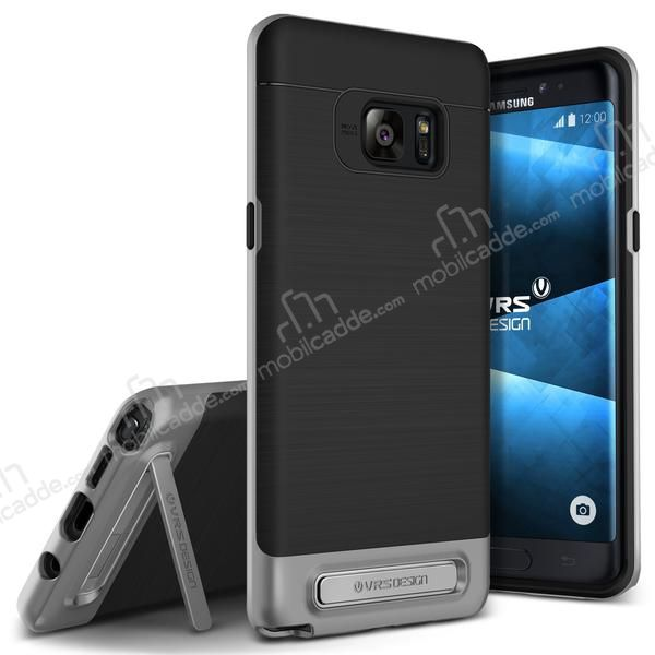 VRS Design High Pro Shield Samsung Galaxy Note FE Steel Silver Kılıf