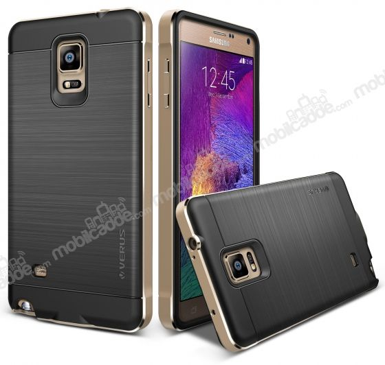 Verus New Iron Shield Samsung N9100 Galaxy Note 4 Gold Kılıf