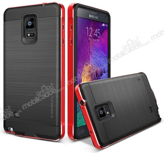 Verus New Iron Shield Samsung N9100 Galaxy Note 4 Kiss Red Kılıf