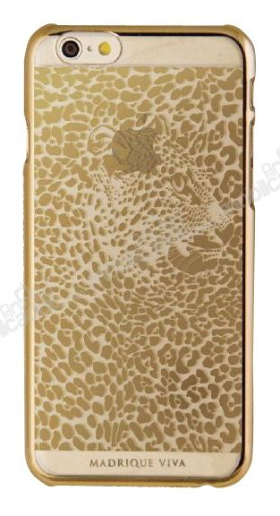 Viva Madrid iPhone 6 / 6S Leopar Gold Şeffaf Rubber Kılıf