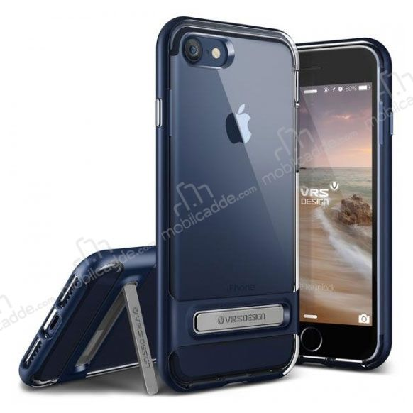 VRS Design Crystal Bumper iPhone 7 / 8 Deep Blue Kılıf