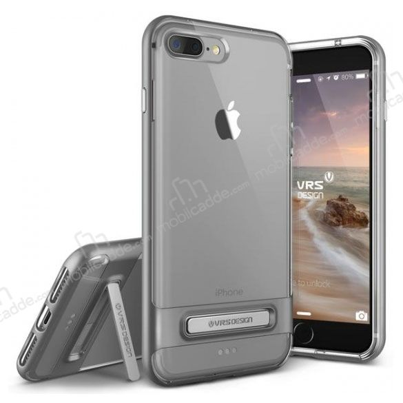 VRS Design Crystal Bumper iPhone 7 Plus Steel Silver Kılıf