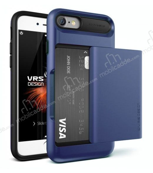 VRS Design Damda Glide iPhone 7 / 8 Deep Blue Kılıf
