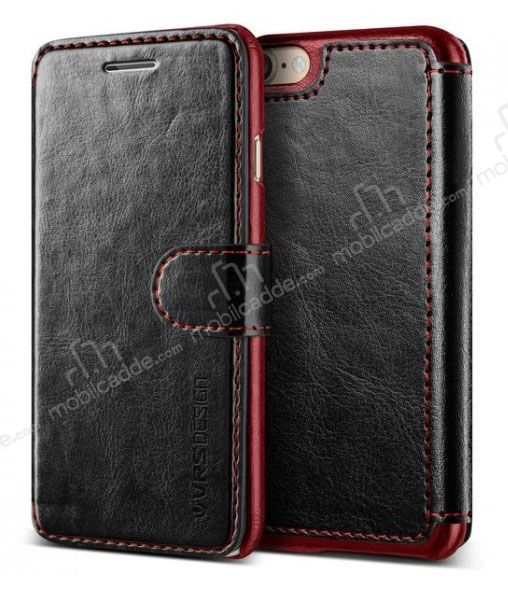 VRS Design Dandy Layered Leather iPhone 7 / 8 Siyah Kılıf