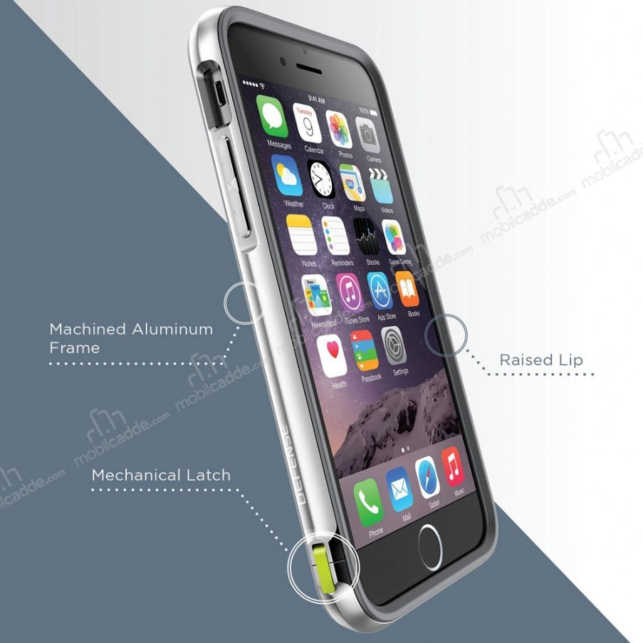 x doria defense lux iphone 6 6s ultra koruma beyaz k l f