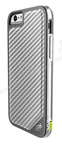 X-Doria Defense Lux iPhone 6 Plus / 6S Plus Ultra Koruma Silver Karbon Kılıf
