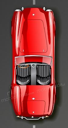 red-retro-car