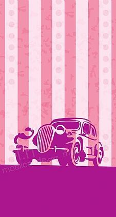 vintage-car-pink