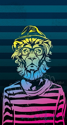 hipster-lion