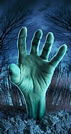 Zombie Hand Blue