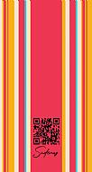 Kişiye Özel Renkli Çizgili Hes Kodu Kabartmalı Parlak