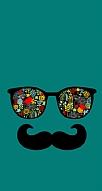 Gözlük Bıyık Yeşil