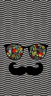 Gözlük Bıyık Gri