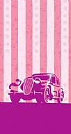 Vintage Car Pink