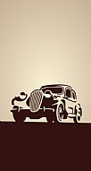 Vintage Car Cream