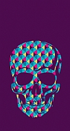 Color Skull Purple