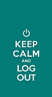Keep Calm And Log Out Green