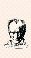 Atatürk Silüet İmza Pembe