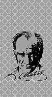 Atatürk Silüet İmza Gri