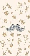Bling Mustache Taşlı