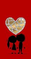 Couple Love Taşlı Aynalı