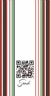 Kişiye Özel Turuncu / Yeşil Çizgili Hes Kodu Kabartmalı Parlak