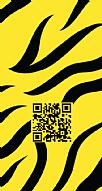 Kişiye Özel Zebra Desenli Hes Kodu Kabartmalı Parlak