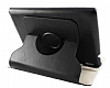 Acer Iconia A1-810 360 Derece D�ner Standl� Siyah Deri K�l�f