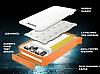 Adata IP54 8000 mah Led Işıklı Turuncu Powerbank Yedek Batarya - Resim 1
