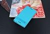 Alcatel A3 Gizli Mıknatıslı Standlı Mavi Deri Kılıf - Resim 1