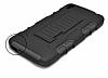 Alcatel OneTouch idol 3 5.5 Standlı Ultra Koruma Siyah Kılıf - Resim 3