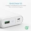 Anker PowerCore 10000 mAh Quick Charge 3.0 Powerbank Siyah Yedek Batarya - Resim 1