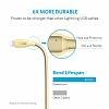 ANKER Powerline Lightning Gold Örgülü Data Kablosu 90cm - Resim 2