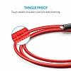 ANKER Powerline Lightning Kırmızı Örgülü Data Kablosu 90cm - Resim 3