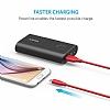 ANKER Powerline Micro USB Kırmızı Data Kablosu 90cm - Resim 3