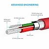 ANKER Powerline Micro USB Kırmızı Data Kablosu 90cm - Resim 4