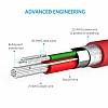 ANKER Powerline Lightning Kırmızı Data Kablosu 90cm - Resim 4