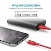 ANKER Powerline Lightning Kırmızı Data Kablosu 90cm - Resim 3