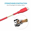 ANKER Powerline Lightning Kırmızı Data Kablosu 90cm - Resim 1