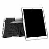 Apple iPad Pro 10.5 Ultra Süper Koruma Standlı Beyaz Kılıf - Resim 1