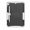 Apple iPad Pro 10.5 Ultra Süper Koruma Standlı Beyaz Kılıf - Resim 5