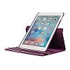 Apple iPad Pro 12.9 2017 360 Derece Döner Standlı Mor Deri Kılıf - Resim 3