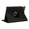 Apple iPad Pro 12.9 2017 360 Derece Döner Standlı Siyah Deri Kılıf - Resim 1
