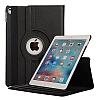 Apple iPad Pro 12.9 2017 360 Derece Döner Standlı Siyah Deri Kılıf - Resim 4