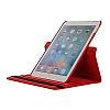 Apple iPad Pro 12.9 2017 360 Derece Döner Standlı Kırmızı Deri Kılıf - Resim 3