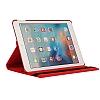 Apple iPad Pro 12.9 2017 360 Derece Döner Standlı Kırmızı Deri Kılıf - Resim 2