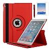 Apple iPad Pro 12.9 2017 360 Derece Döner Standlı Kırmızı Deri Kılıf - Resim 4