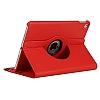 Apple iPad Pro 12.9 2017 360 Derece Döner Standlı Kırmızı Deri Kılıf - Resim 1