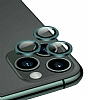 Apple iPhone 12 Pro 6.1 inç Metal Kenarlı Cam Lacivert Kamera Lensi Koruyucu